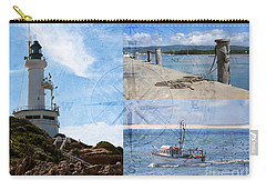 Beach Triptych 2 Carry-all Pouch by Linda Lees