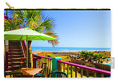Beach View Of The Ocean By Jan Marvin Studios Carry-all Pouch