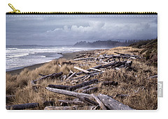 Beached Driftlogs Carry-all Pouch by Richard Farrington