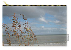 Carry-all Pouch featuring the photograph Beachview With Seaoat  by Christiane Schulze Art And Photography
