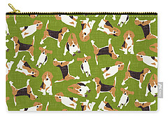 Beagle Scatter Green Carry-all Pouch