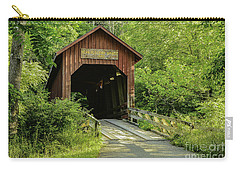 Bean Blossom Covered Bridge Carry-all Pouch by Mary Carol Story