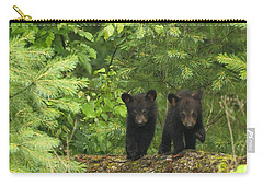 Carry-all Pouch featuring the photograph Bear Buddies by Coby Cooper