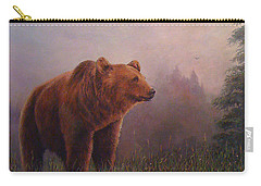 Carry-all Pouch featuring the painting Bear In The Mist by Donna Tucker