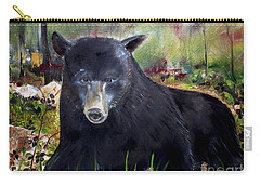 Bear Painting - Blackberry Patch - Wildlife Carry-all Pouch