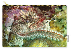 Carry-all Pouch featuring the photograph Bearded Fireworm On Rainbow Coral by Amy McDaniel
