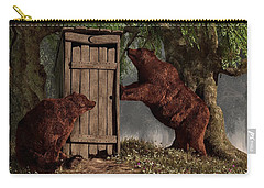 Bears Around The Outhouse Carry-all Pouch by Daniel Eskridge