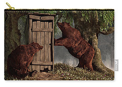 Bears Around The Outhouse Carry-all Pouch