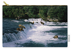 Bears Fish Brooks Fall Katmai Ak Carry-all Pouch by Panoramic Images