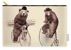 Bears On Bicycles Carry-all Pouch