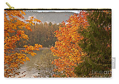 Carry-all Pouch featuring the photograph Beautiful Autumn Gold Art Prints by Valerie Garner