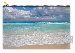 Beautiful Beach Ocean In Cancun Mexico Carry-all Pouch