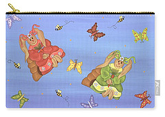 Beautiful Bunnies Carry-all Pouch by Tracy Campbell