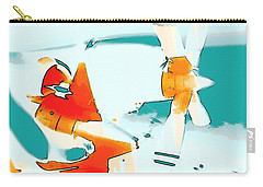 Carry-all Pouch featuring the photograph Fixed Wing Aircraft Pop Art by R Muirhead Art