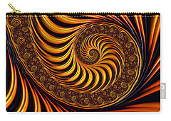 Beautiful Golden Fractal Spiral Artwork  Carry-all Pouch
