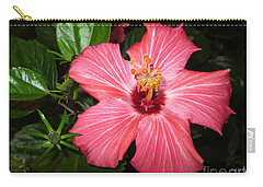 Carry-all Pouch featuring the digital art Beautiful Hibiscus by Oksana Semenchenko