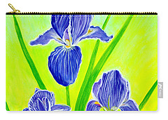 Beautiful Iris Flowers Card Carry-all Pouch
