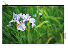 Carry-all Pouch featuring the photograph Beautiful Louisiana Hybrid Iris by Marianne Campolongo