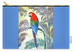 Carry-all Pouch featuring the painting Beautiful Parrot For Someone Special by Phyllis Kaltenbach