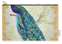 Beautiful Peacock-b Carry-all Pouch by Jean Plout