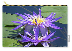 Carry-all Pouch featuring the photograph Beautiful Purple Lilies by Chrisann Ellis