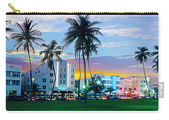 Miami Skyline Carry-All Pouches