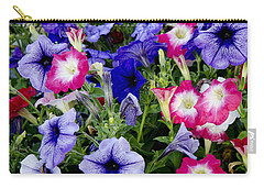 Carry-all Pouch featuring the photograph Beautiful Summer Annuals by Wilma  Birdwell