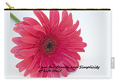 Carry-all Pouch featuring the photograph Beauty And Simplicity by Patrice Zinck