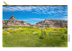 Carry-all Pouch featuring the photograph Beauty And The Badlands by John M Bailey