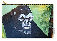 Carry-all Pouch featuring the painting Beauty And The Beast by Nora Shepley