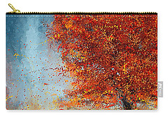 Beauty Of It- Autumn Impressionism Carry-all Pouch by Lourry Legarde