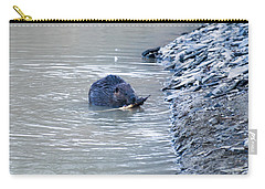 Beaver Chews On Stick Carry-all Pouch by Chris Flees