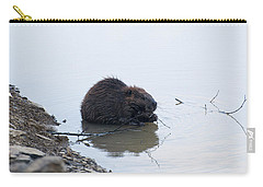Beaver In The Shallows Carry-all Pouch by Chris Flees