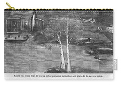 Beaver Pond - Article - Mary Krupa Carry-all Pouch by Bernadette Krupa