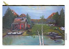 Beaver Pond - Mary Krupa Carry-all Pouch by Bernadette Krupa