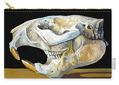 Beaver Skull 1 Carry-all Pouch by Catherine Twomey