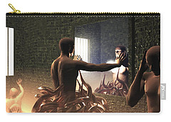 Carry-all Pouch featuring the digital art Becoming Disturbed by John Alexander