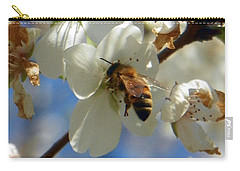 Bee And Pear Blooms Carry-all Pouch