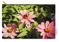 Carry-all Pouch featuring the photograph Bee At Work by Mary Carol Williams