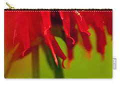 Carry-all Pouch featuring the photograph Bee Balm Abstract by Jani Freimann