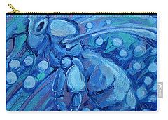 Bee Blue Carry-all Pouch