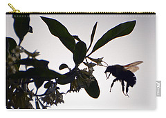 Carry-all Pouch featuring the photograph Bee In Flight  by Kerri Farley