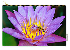 Beautiful Bee And Water Lily Carry-all Pouch