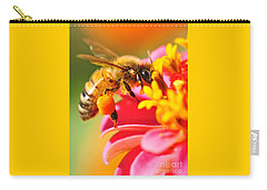 Bee Laden With Pollen Carry-all Pouch