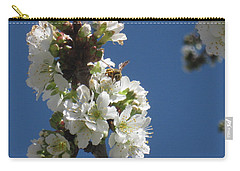 Bee On Cherry Blossoms Carry-all Pouch
