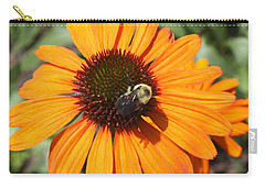 Bee On Flower Carry-all Pouch by John Telfer