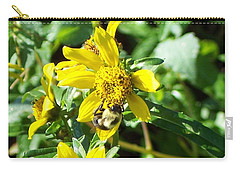 Bee On Flower Carry-all Pouch