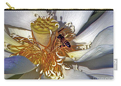 Bee On Lotus Carry-all Pouch