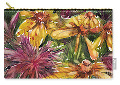 Beebalm And Heliopsis Carry-all Pouch by Judith Levins