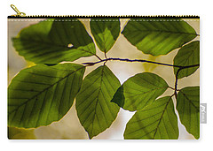 Beech Leaves And Bokeh Carry-all Pouch by Jan Bickerton
